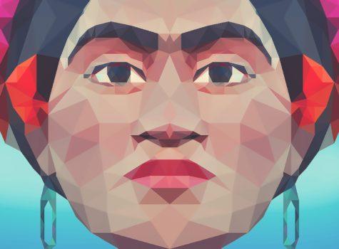 geometric design of frida kahlo